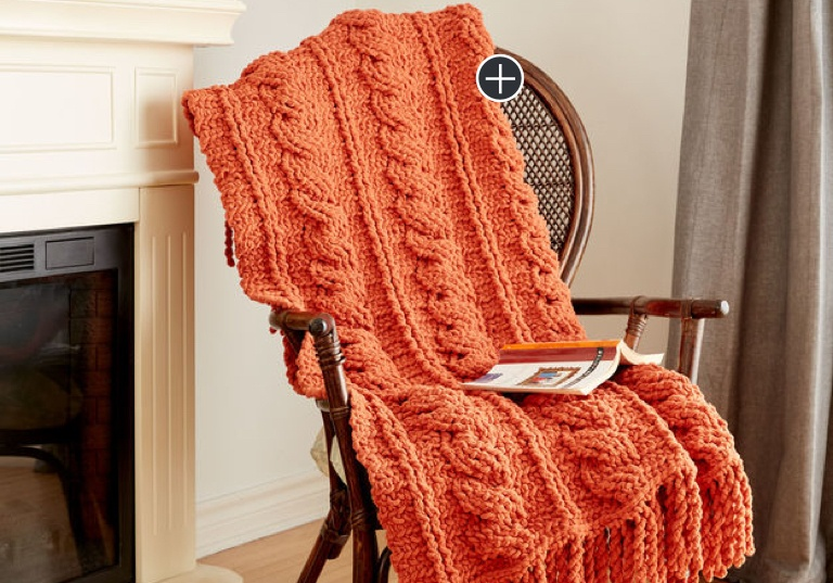 Intermediate Crochet Cables Afghan