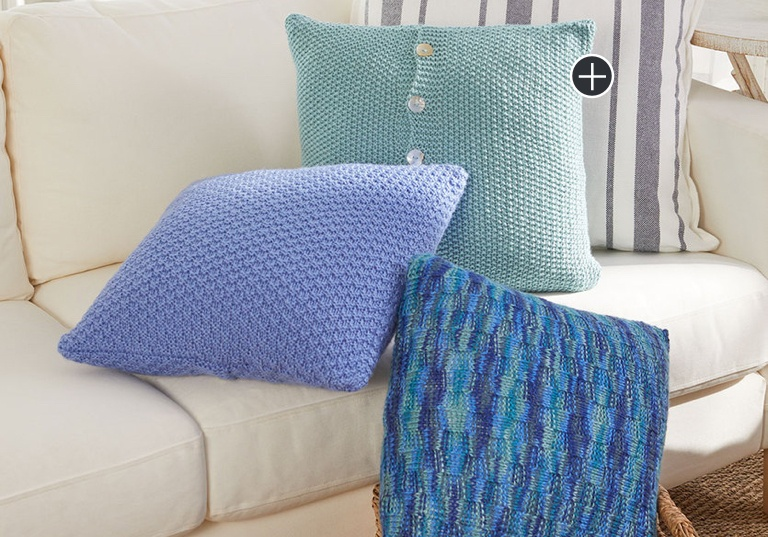 Easy Beach House Knit Pillows