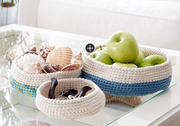 Easy Crochet Nesting Bowls