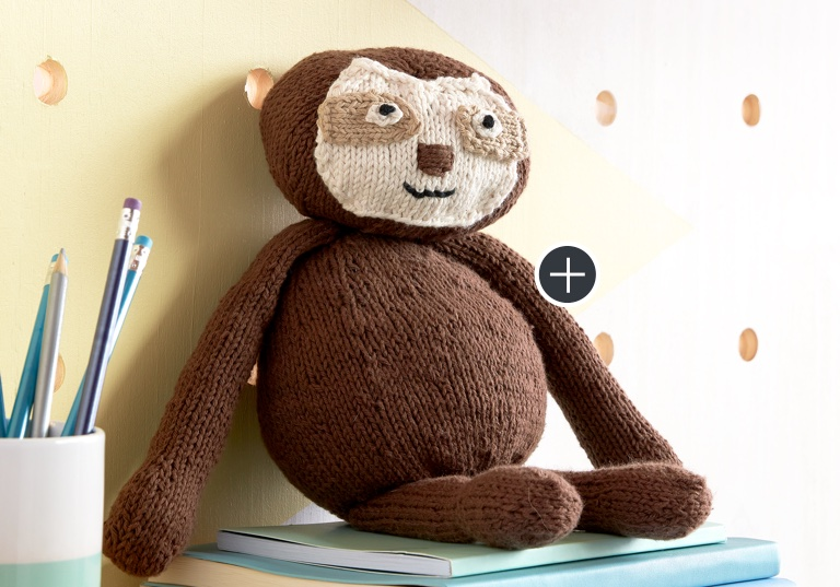 Easy Knit Sloth Toy