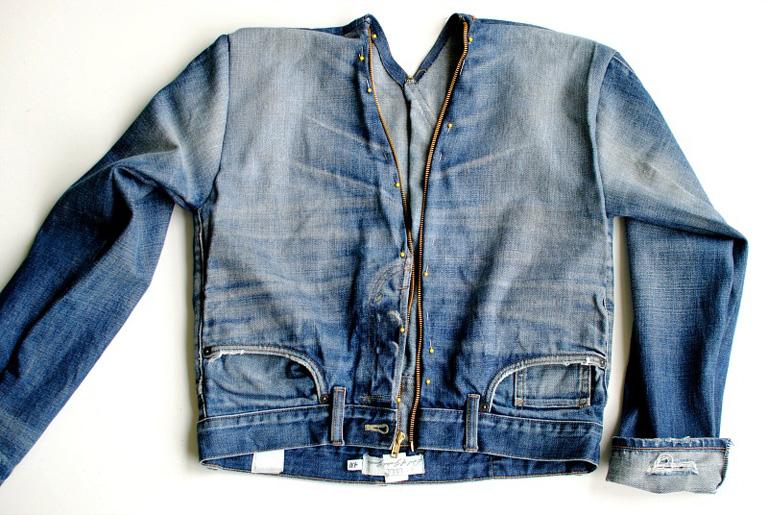 denim jacket front view