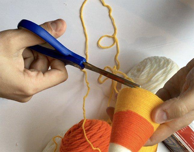 Yarn Wrapped Candy Corn