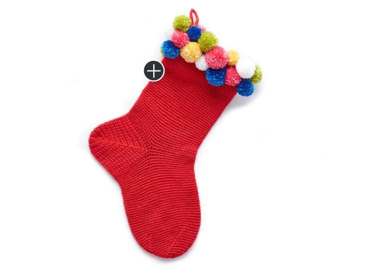 Easy Crochet Pompom Stocking