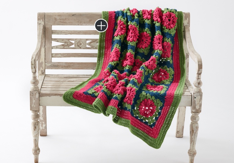 Easy Petal Pops Crochet Blanket