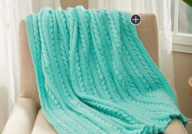 Easy Cables & Texture Knit Throw