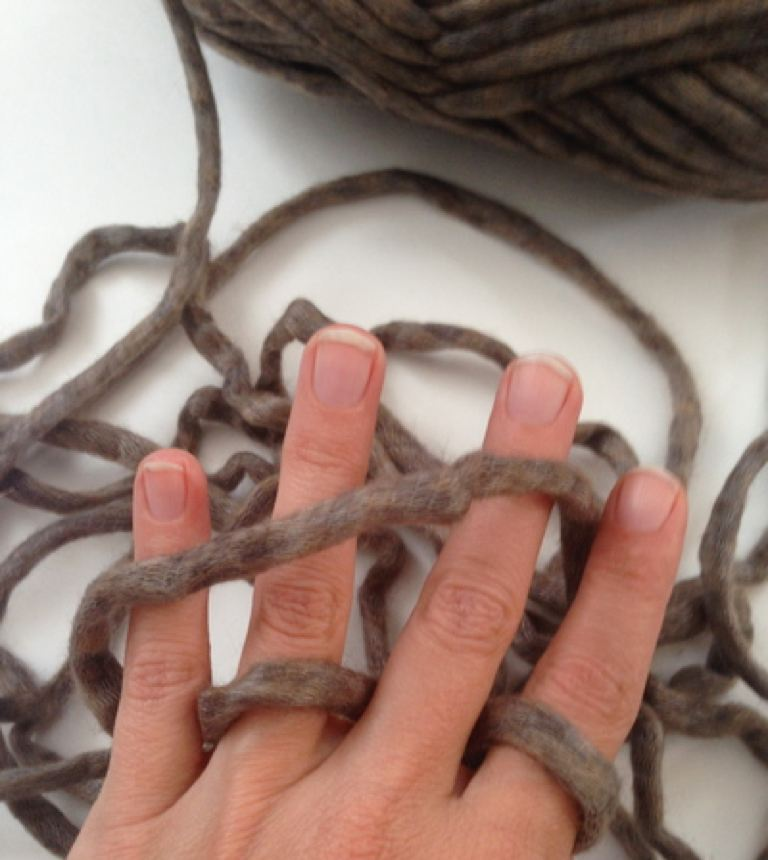How to Finger Crochet (No Hook Needed)