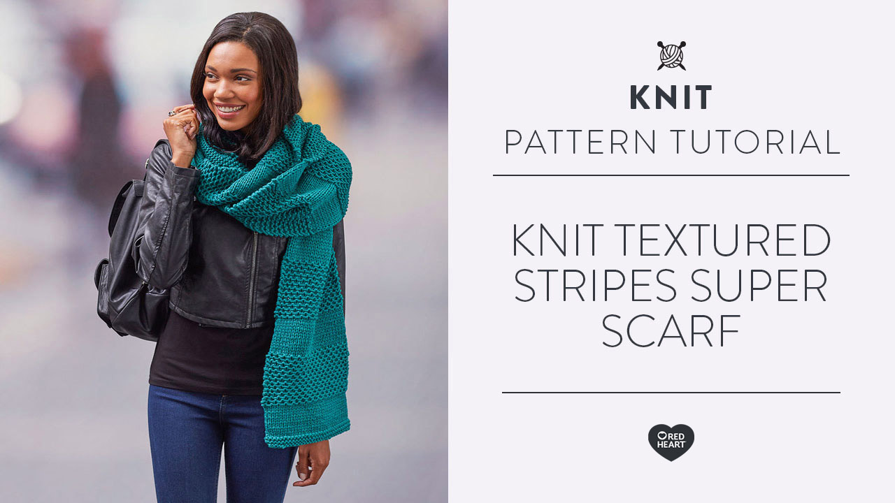 Knit Textured Stripes Super Scarf