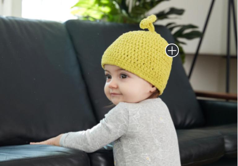 Easy Li'l Sprout Crochet Hat