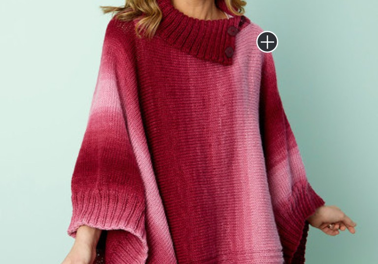 Easy Knit Napa Rib Collar Poncho