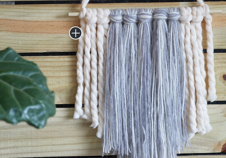 Beginner To The Point Fringe Craft Wall Hanging