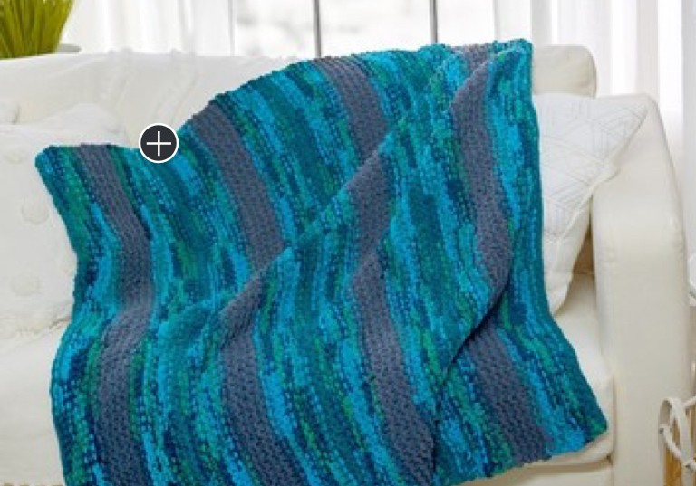 Beginner Cozy-Up Knit Throw