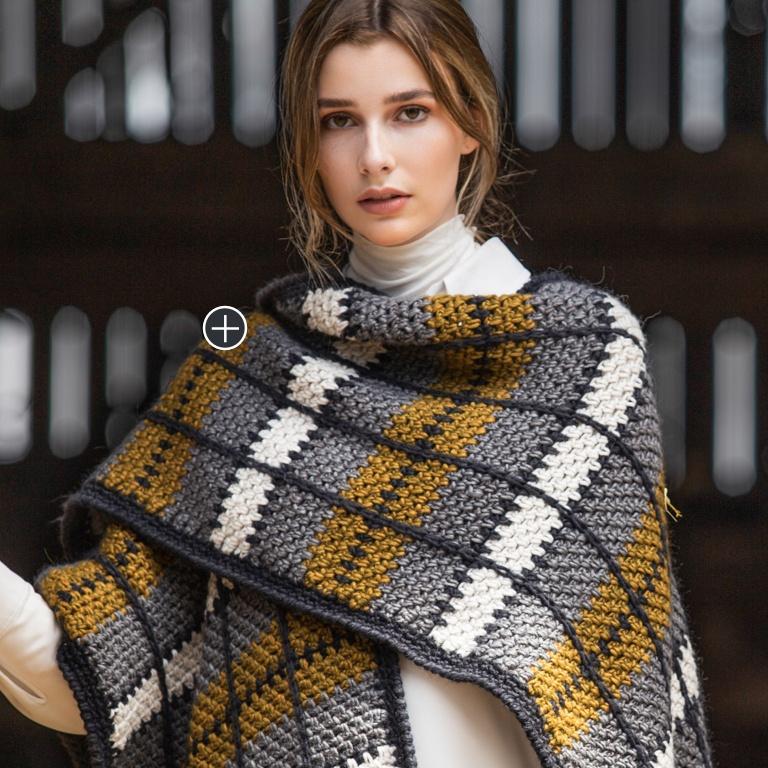 Intermediate Crochet Blanket Ruana