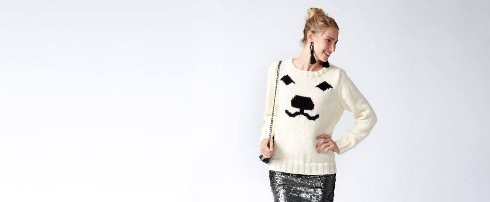 Patons Polar Bear Knit Holiday Sweater