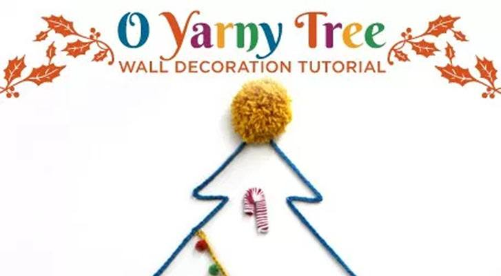 Yarny Tree: Holiday Wall Decor Tutorial