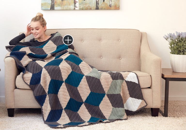 Easy Illusion Infusion Crochet Blanket