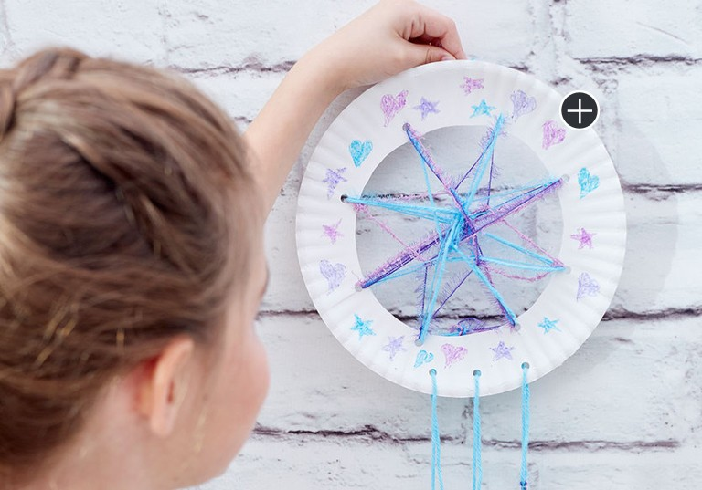 Beginner Paper Plate Dream Catcher