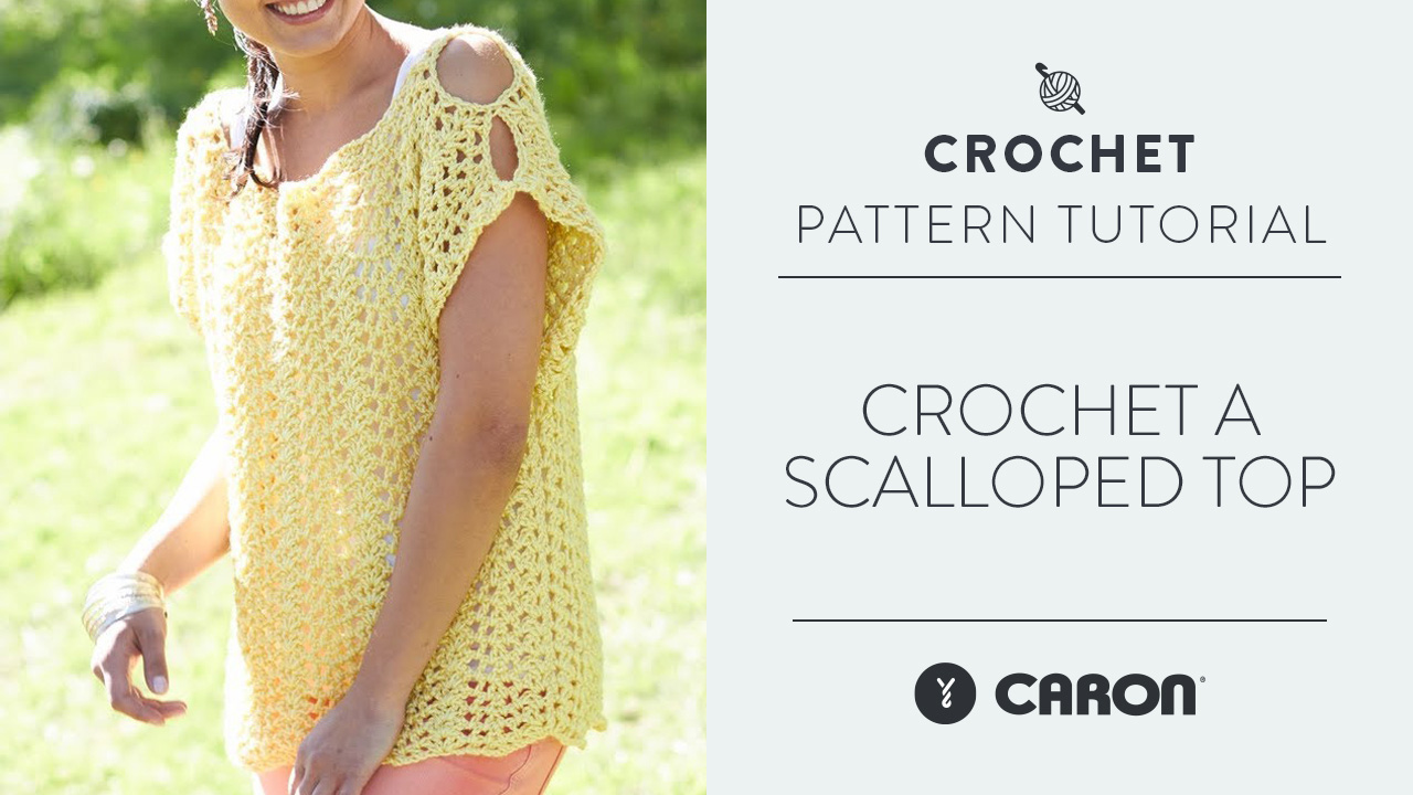 Crochet A Scalloped Top