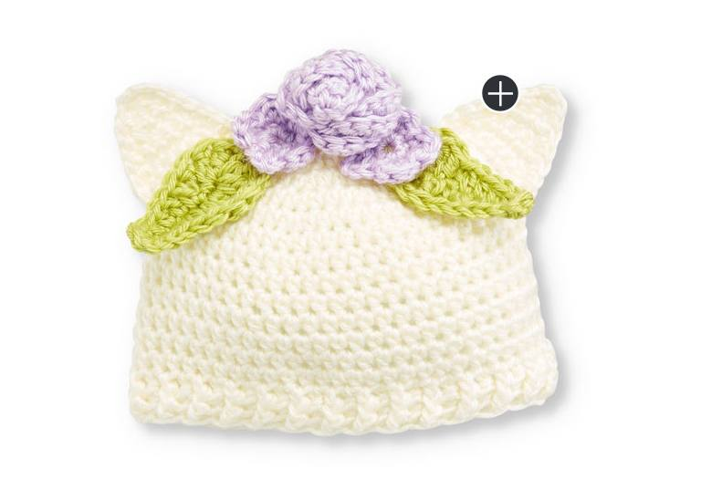 Easy Crochet Kitten Hat