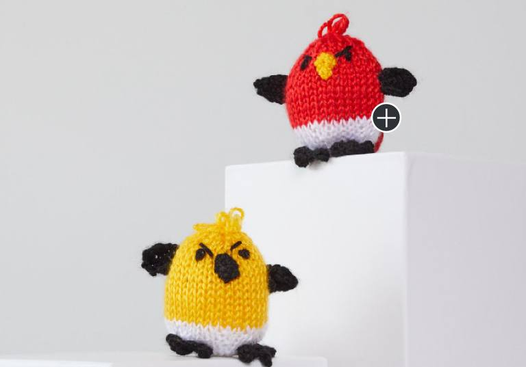 Easy George and Hubert Knit Bird