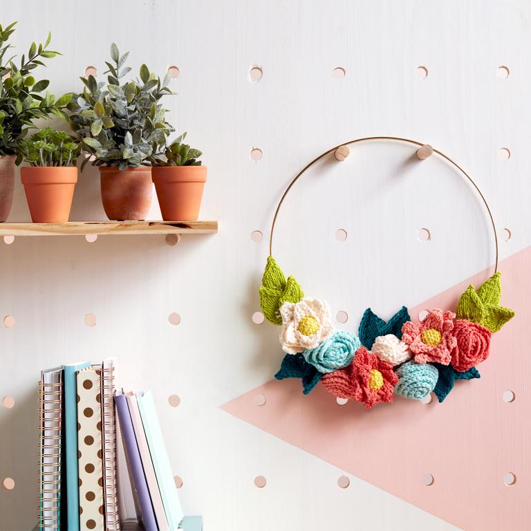 Easy In Bloom Knit Wreath
