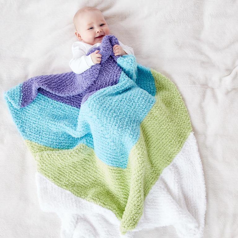 Easy Baby Chevron Knit Blanket