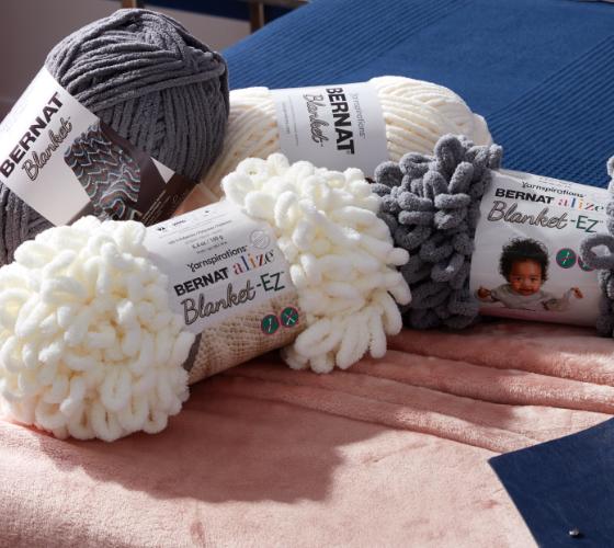 Bernat Alize EZ Loopy Corner Crochet Pillow 1