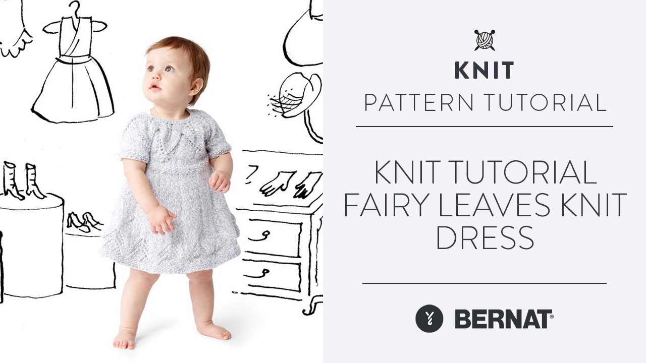 Knit Tutorial: Fairy Leaves Knit Dress