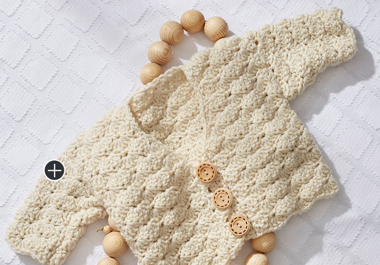 Easy Sweet Shell Crochet Cardigan