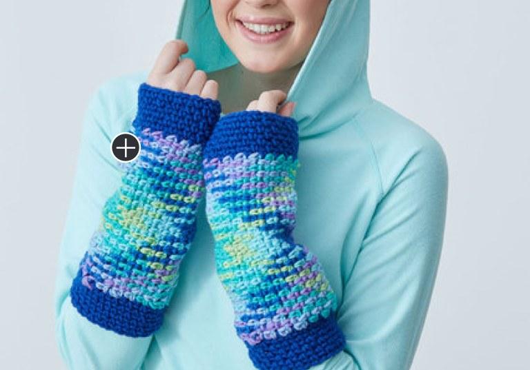 Intermediate Crochet Argyle Wristers