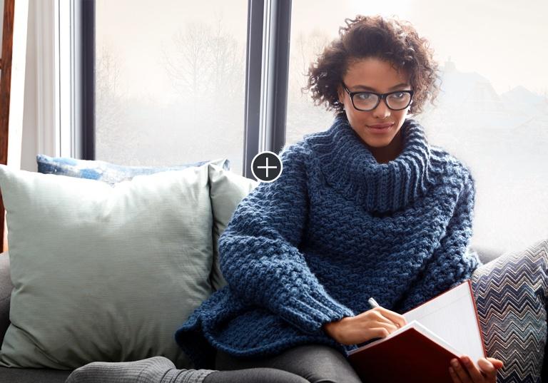 Easy Woman's Curvy Crochet Cowl Pullover