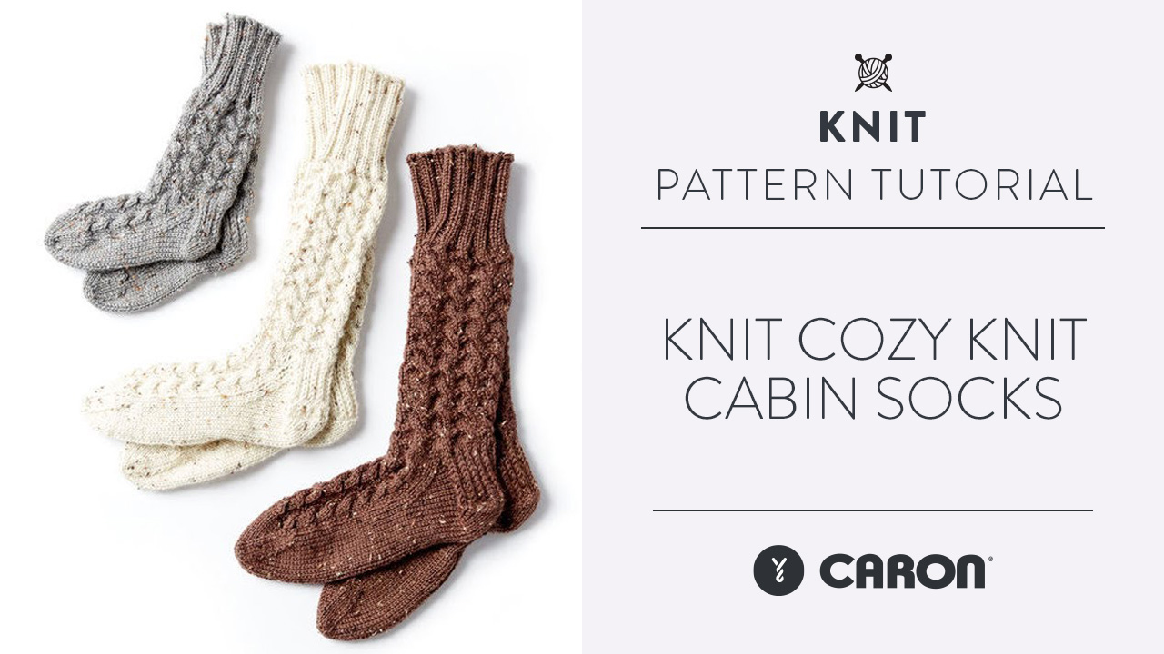 Knit: Cozy Knit Cabin Socks