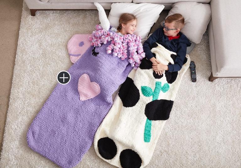 Easy Crochet Unicorn Snuggle Sack