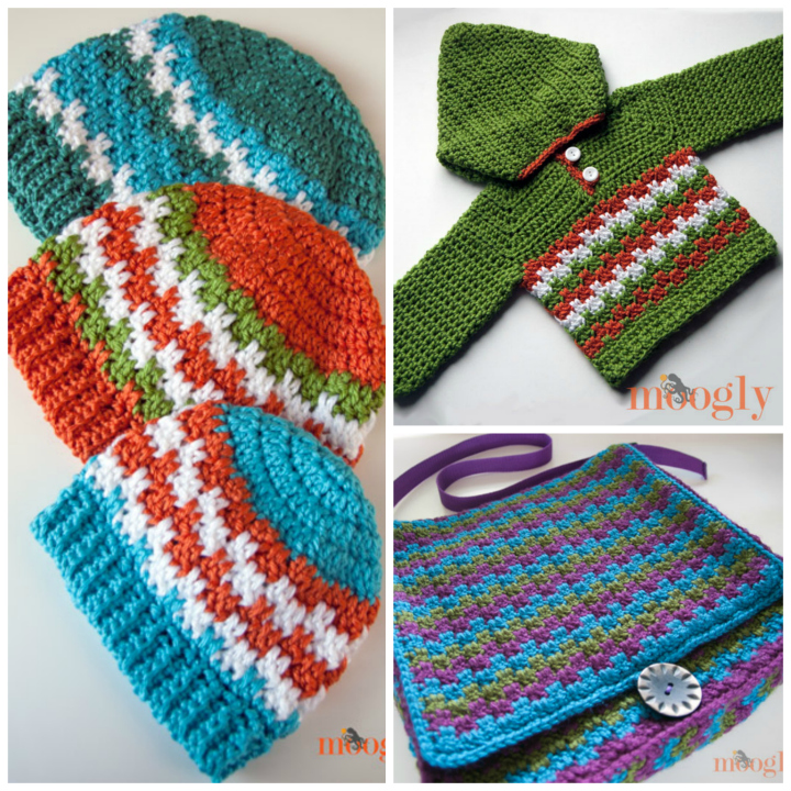 Free crochet patterns by Moogly featuring Red Heart Yarns!