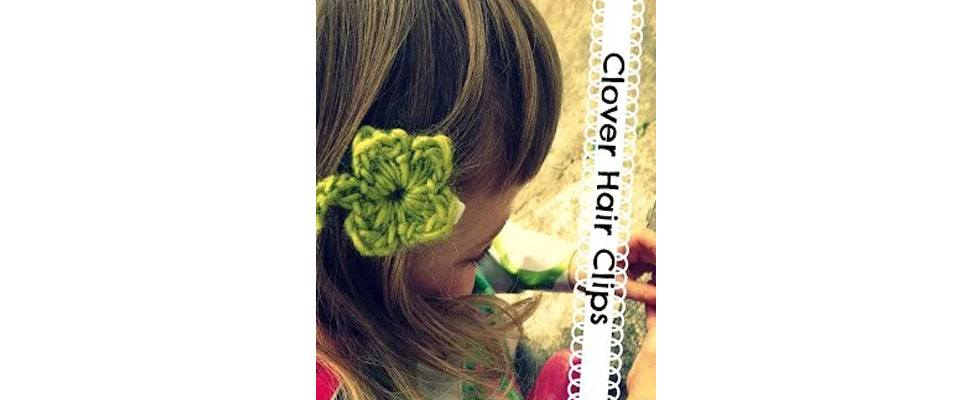 Clover Hair Clips