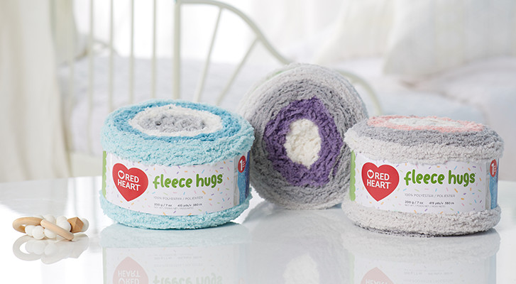 Red Heart Fleece Hugs Yarn Review