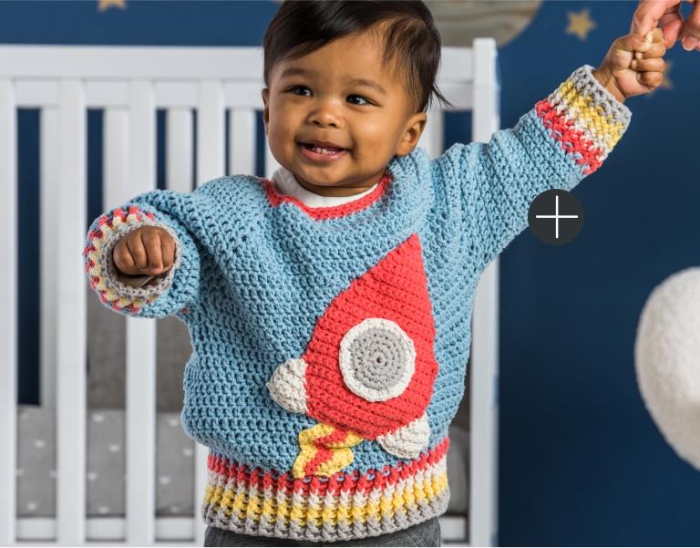Bernat Crochet Rocket  Sweater