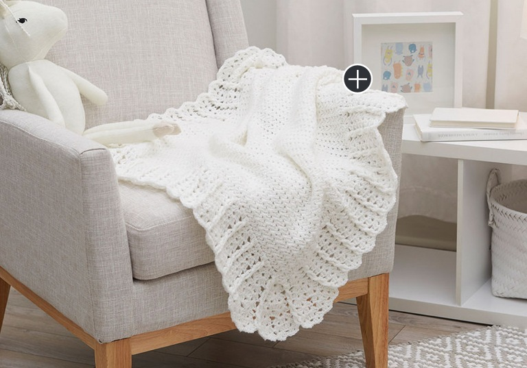 Intermediate Crochet Lace Baby Blanket