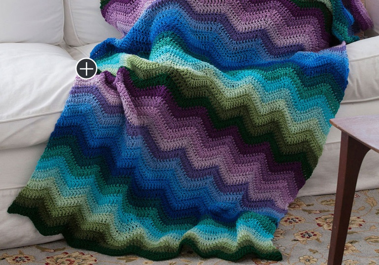 Easy Crochet Radiating Ripple Throw