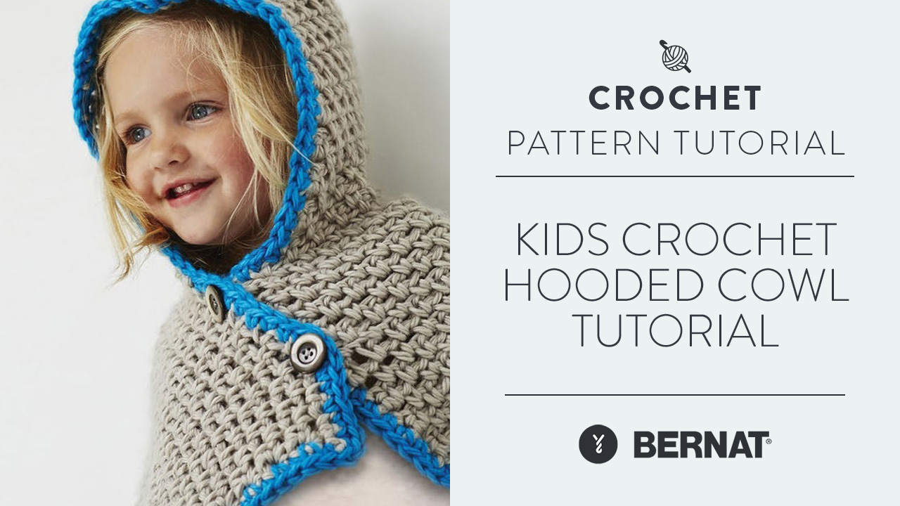 Kids Crochet Hooded Cowl Tutorial