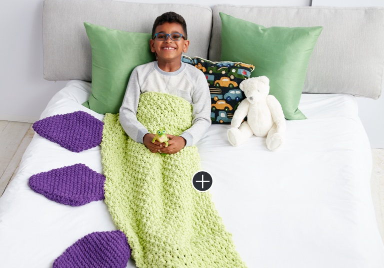 Easy Dino Tail Crochet Snuggle Sack