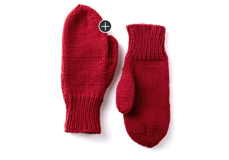 Beginner Family Knit Mittens