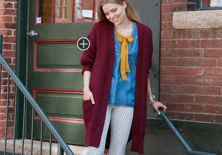 Easy Long Weekend Knit Cardigan