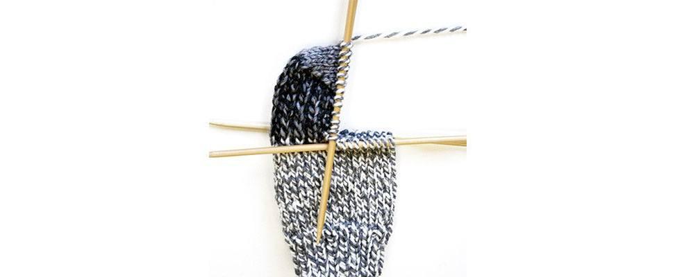 Knit Slouchy Socks Heel