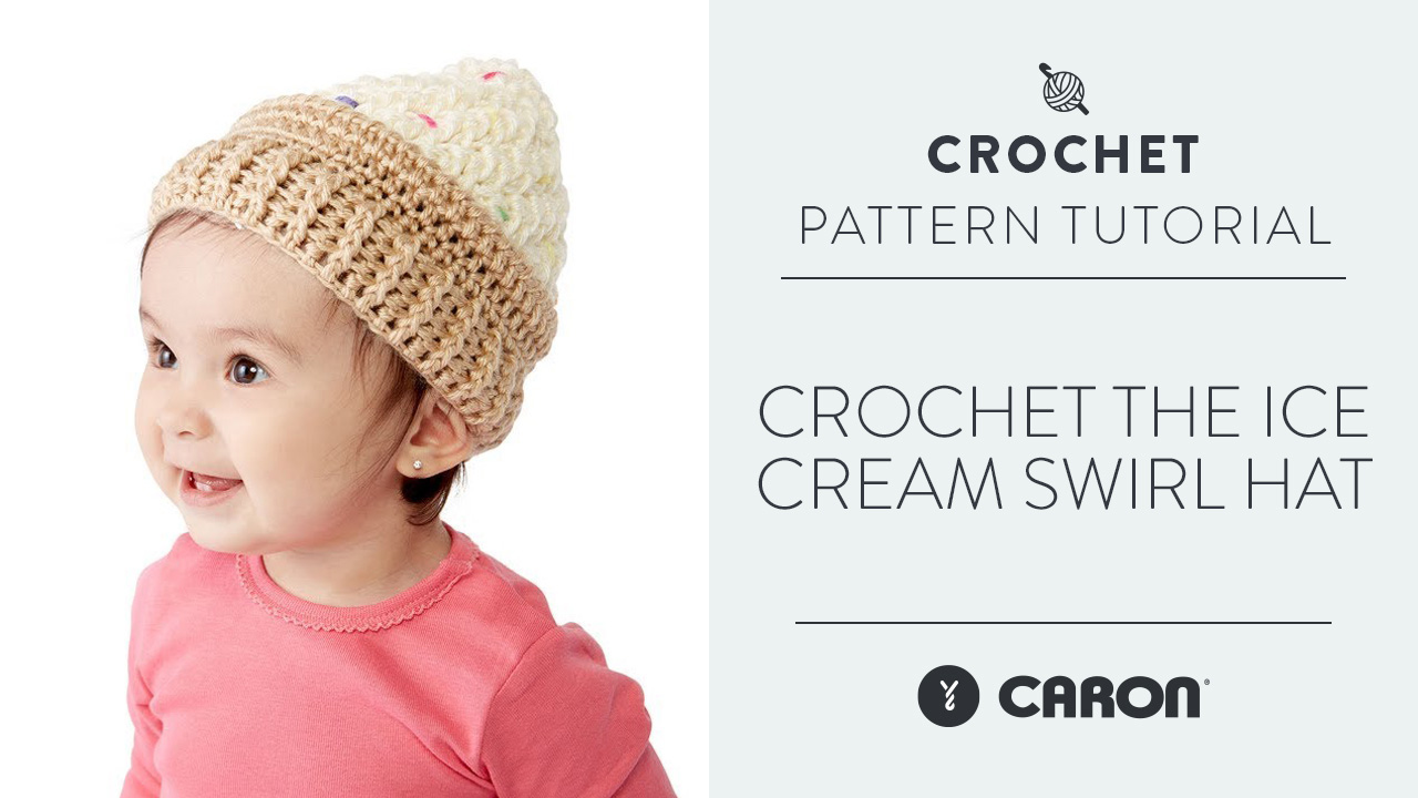 Crochet the Ice Cream Swirl Hat