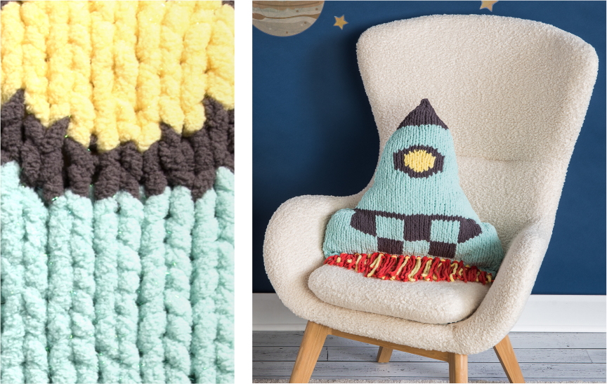 Bernat Be Spoke Crochet pillow