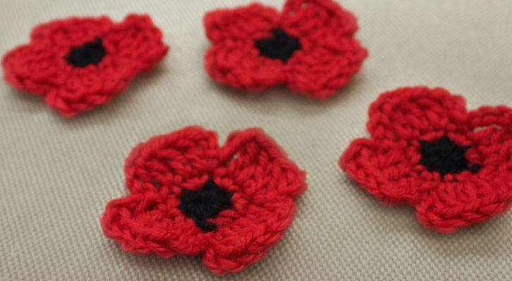 A Crochet Remembrance Poppy