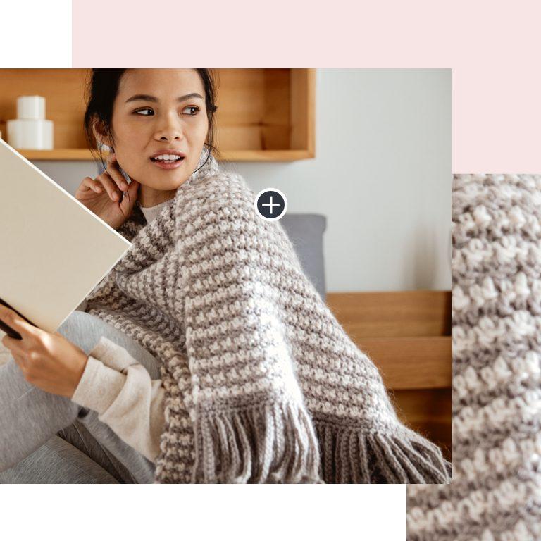 Easy Tweed Crochet shawl