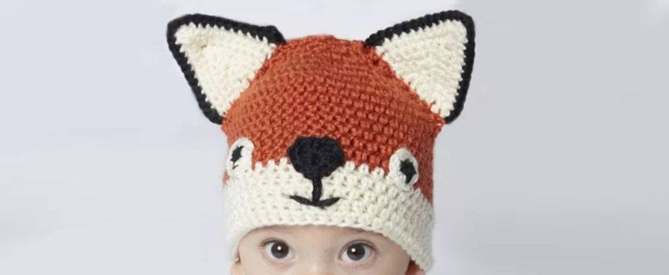 Fox hat in size 6-12 months