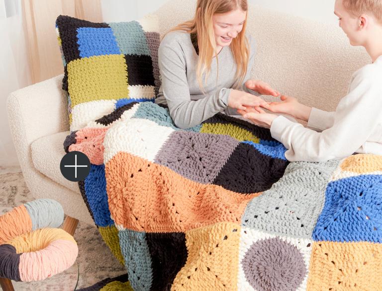Image of Bernat Circle & Square Crochet Blanket