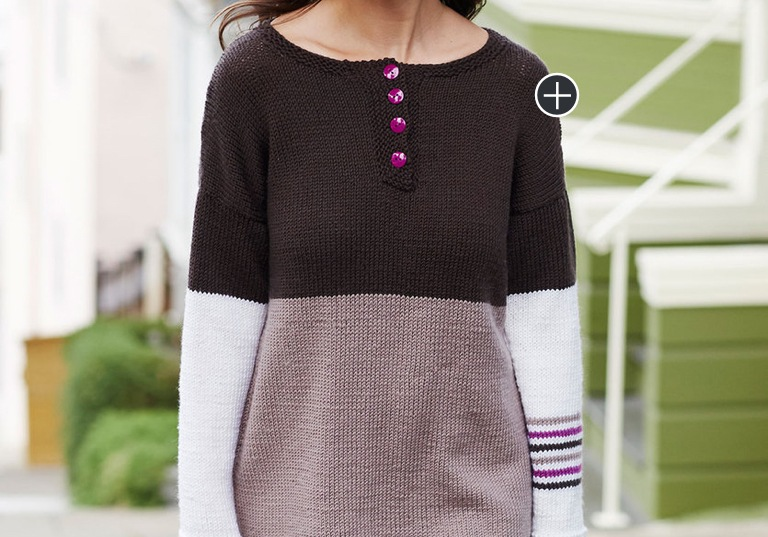 Intermediate Henley-Etta Chic Knit Sweater